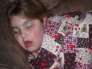 carly sleeping
