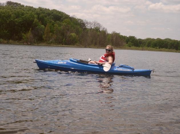 Carly kayaking