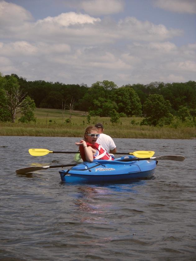 Lydia kayaking