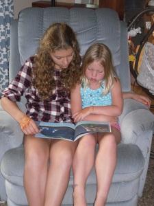 Lydia reading