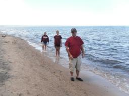 maroon on beach