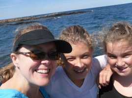 three girls black rocks